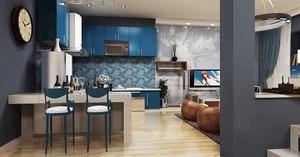 50平米现代简约风格精致单身公寓装修效果图