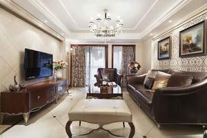 新古典主义风格大户型室内客厅装饰画效果图
