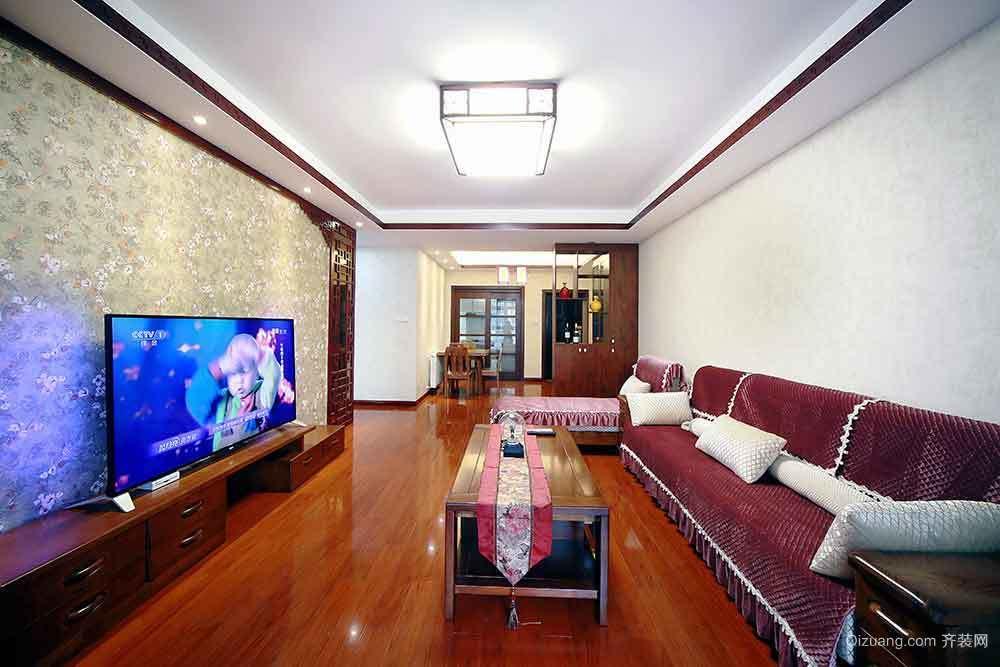 139平米新中式风格三室两厅室内装修效果图