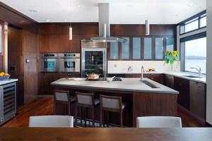复古美式风格大户型整体厨房装修效果图赏析