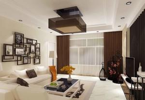 简约中式风格客厅装修效果图赏析