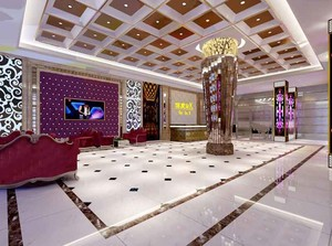 200平米欧式风格KTV大堂设计装修效果图赏析