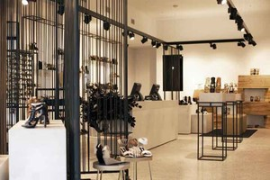 69平米后现代风格鞋店设计装修效果图