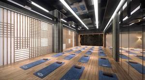 80平米现代风格瑜伽馆设计装修效果图