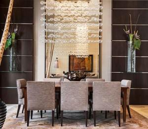 后现代风格大户型室内创意餐厅吊灯设计效果图