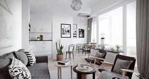 60平米小户型北欧风格极致简约室内装修效果图