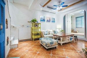 155平米自然地中海风格复式楼室内装修效果图