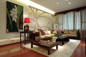 149平米异域风情东南亚风格三室两厅室内装修效果图