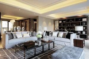 120平米精致生活后现代风格室内装修效果图案例
