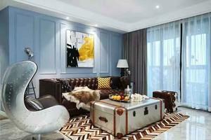 81平米时尚混搭风格两室两厅室内装修效果图
