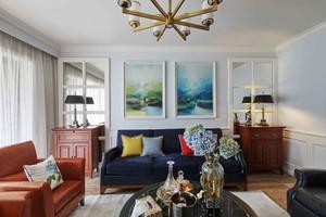 现代简约美式风格大户型室内装修效果图案例
