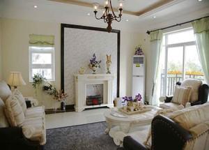 99平米美式田园风格两室两厅室内装修效果图