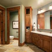 美式乡村风格大户型卫生间洗脸盆装修效果图赏析