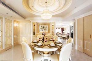 典雅精欧式风格大户型餐厅设计装修效果图大全