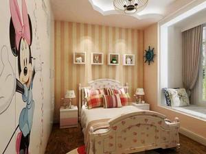 129平米欧式田园风格三室两厅室内装修效果图