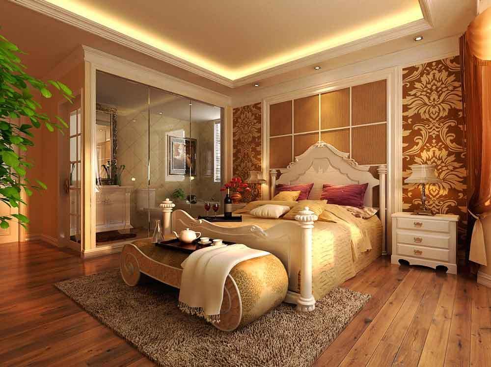 古典欧式风格卧室背景墙装修效果图