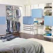 现代简约风格卧室整体衣柜设计装修效果图