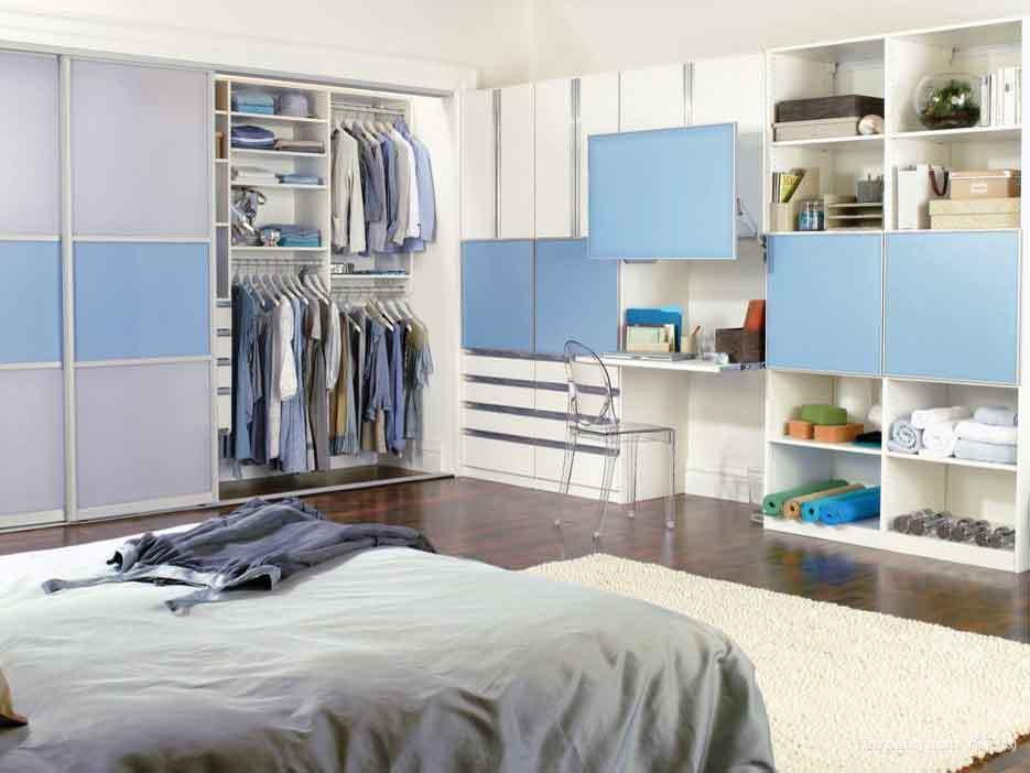 現代簡約風格臥室整體衣柜設計裝修效果圖