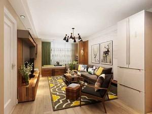 79平米现代简约风格两室一厅装修效果图赏析