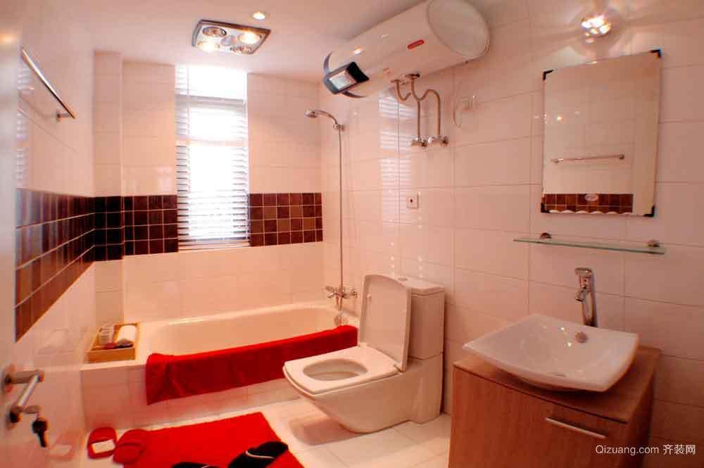粉色厕所装修图片大全