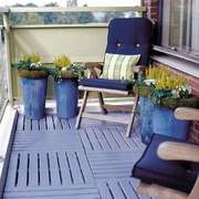 休闲午后现代美式风格阳台设计装修效果图
