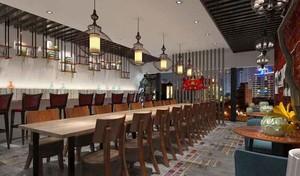 80平米中式风格餐厅设计装修效果图赏析