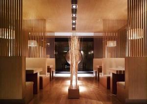 新中式风格中餐厅隔断设计装修效果图