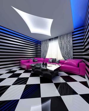 44平米现代风格KTV中包房设计装修效果图