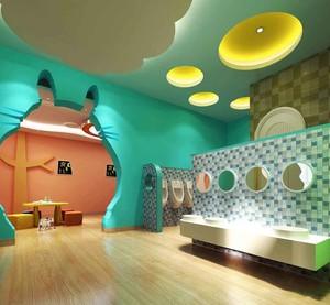 现代简约风格可爱幼儿园卫生间装修效果图