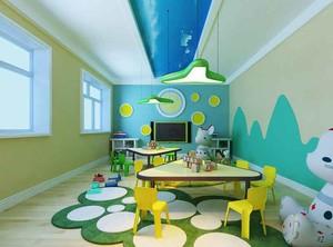 60平米现代简约风格幼儿园墙面设计装修效果图