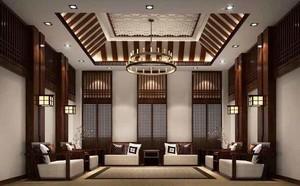 50平米中式风格会客厅装修效果图赏析