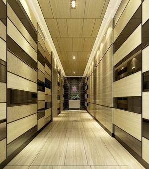 现代风格宾馆过道设计装修效果图