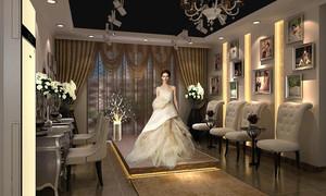 120平米欧式风格婚纱店设计装修效果图赏析