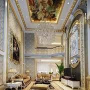 360平米巴洛克风格别墅客厅吊顶设计装修效果图