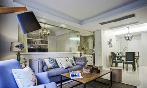 65平米北欧风格小户型室内装修效果图案例