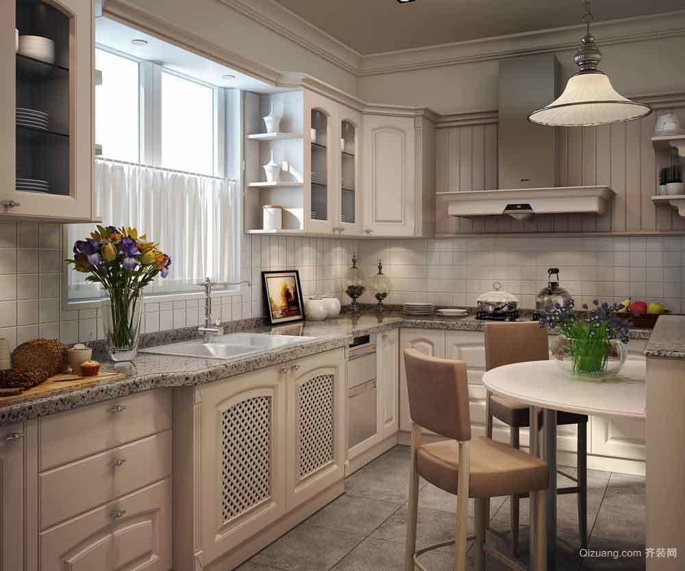 欧式风格大户型整体厨房装修效果图赏析