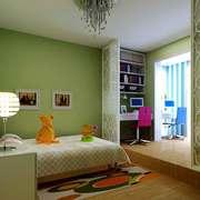 14平米现代简约风格儿童房装修效果图赏析