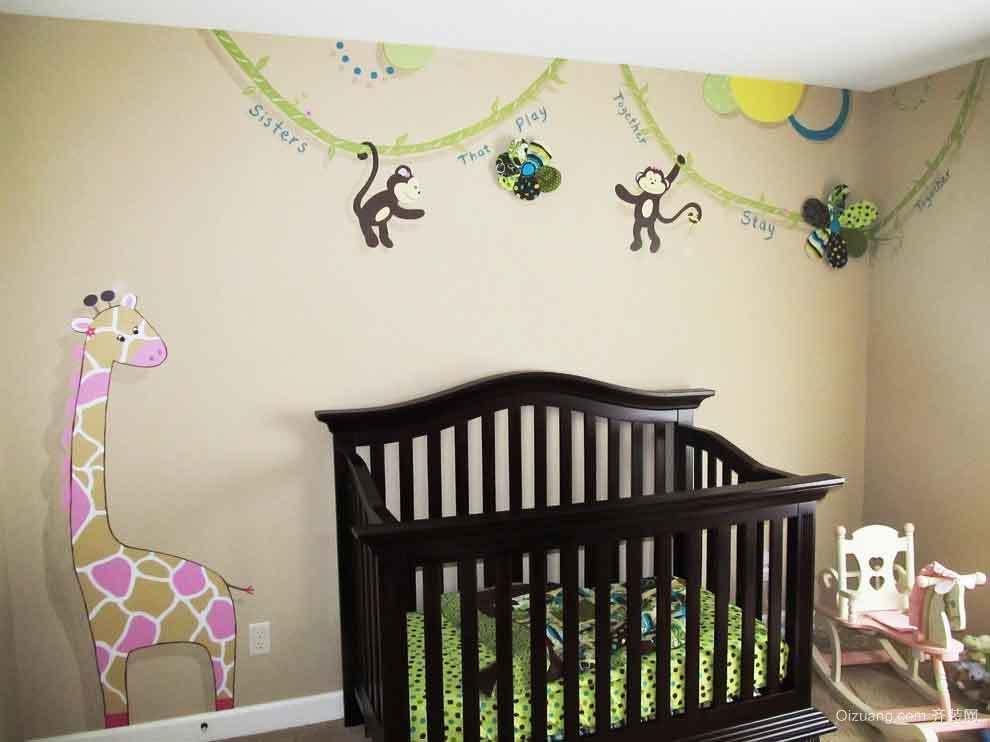 简欧风格婴儿房贴纸装修效果图赏析