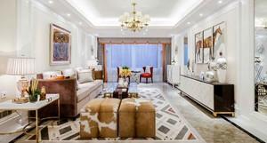 125平米时尚混搭风格三室两厅室内装修效果图赏析