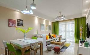 89平米现代简约风格温馨两室两厅室内装修效果图