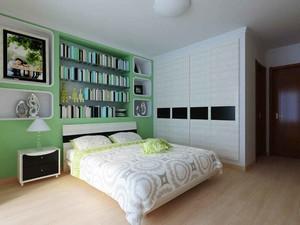 现代简约风格两居室卧室整体衣柜装修效果图