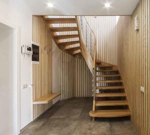 宜家风格小复式实木楼楼梯设计装修效果图