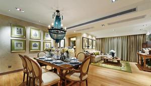 156平米美式风格三室两厅两卫装修效果图案例