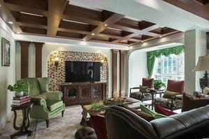 230平米美式风格别墅室内装修效果图案例
