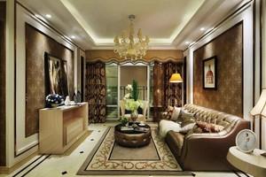 139平米高贵典雅欧式风格两室两厅室内装修效果图