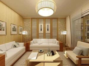 72平米日式风格两室一厅室内装修效果图赏析