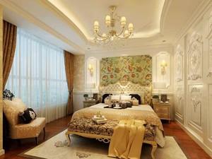 欧式风格典雅温馨卧室背景墙装修效果图赏析