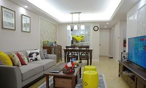 95平米现代风格两室两厅室内装修效果图赏析