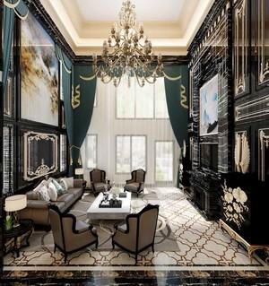 320平米新古典主义风格别墅室内装修效果图赏析