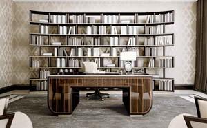 20平米新古典主义风格别墅书房设计装修效果图
